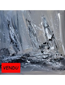 Tableau maritime bateaux voiliers peinture marine for Peintures en noir et blanc