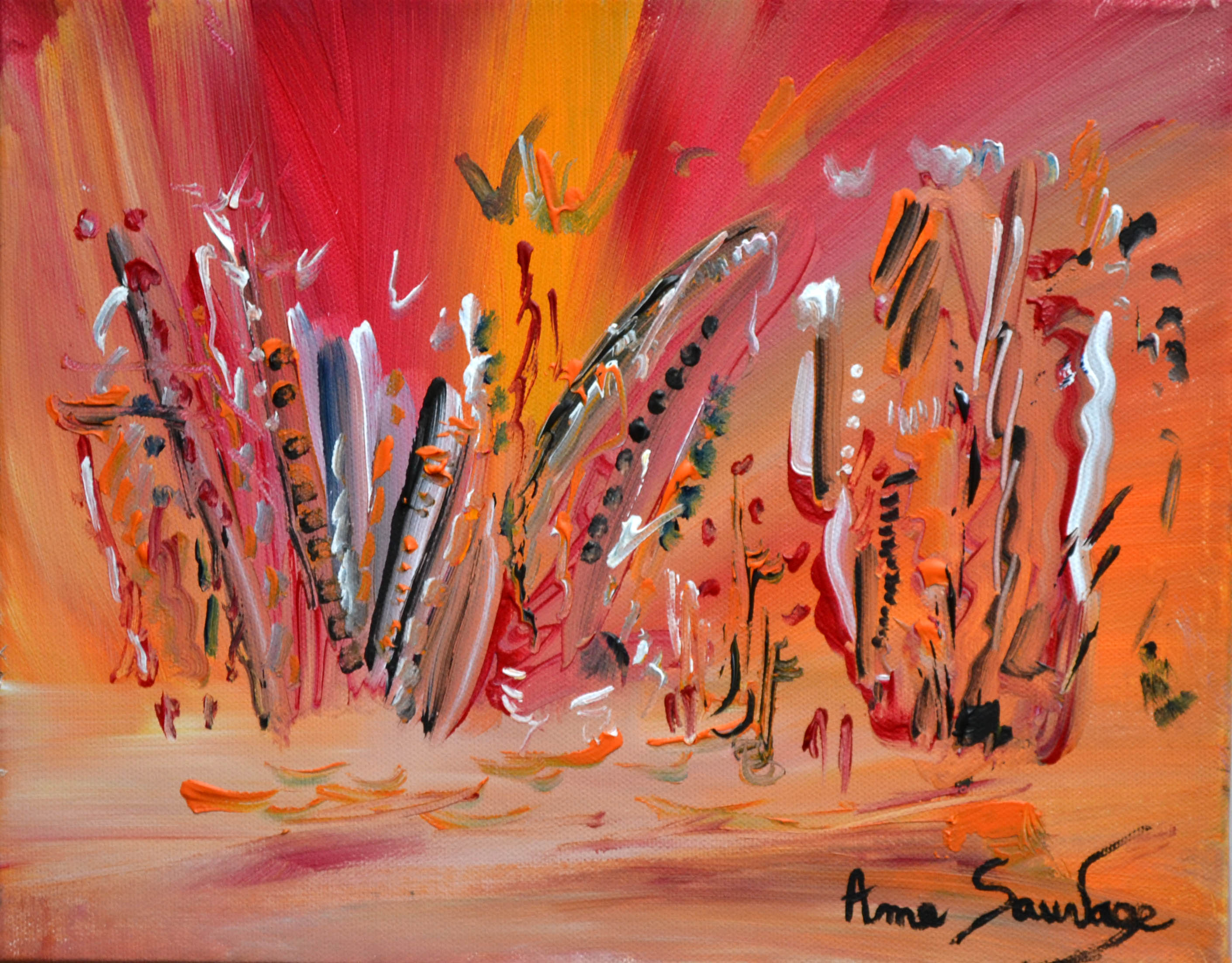 Toiles abstraites en ligne tableau abstrait multicolore for Peinture contemporaine abstraite