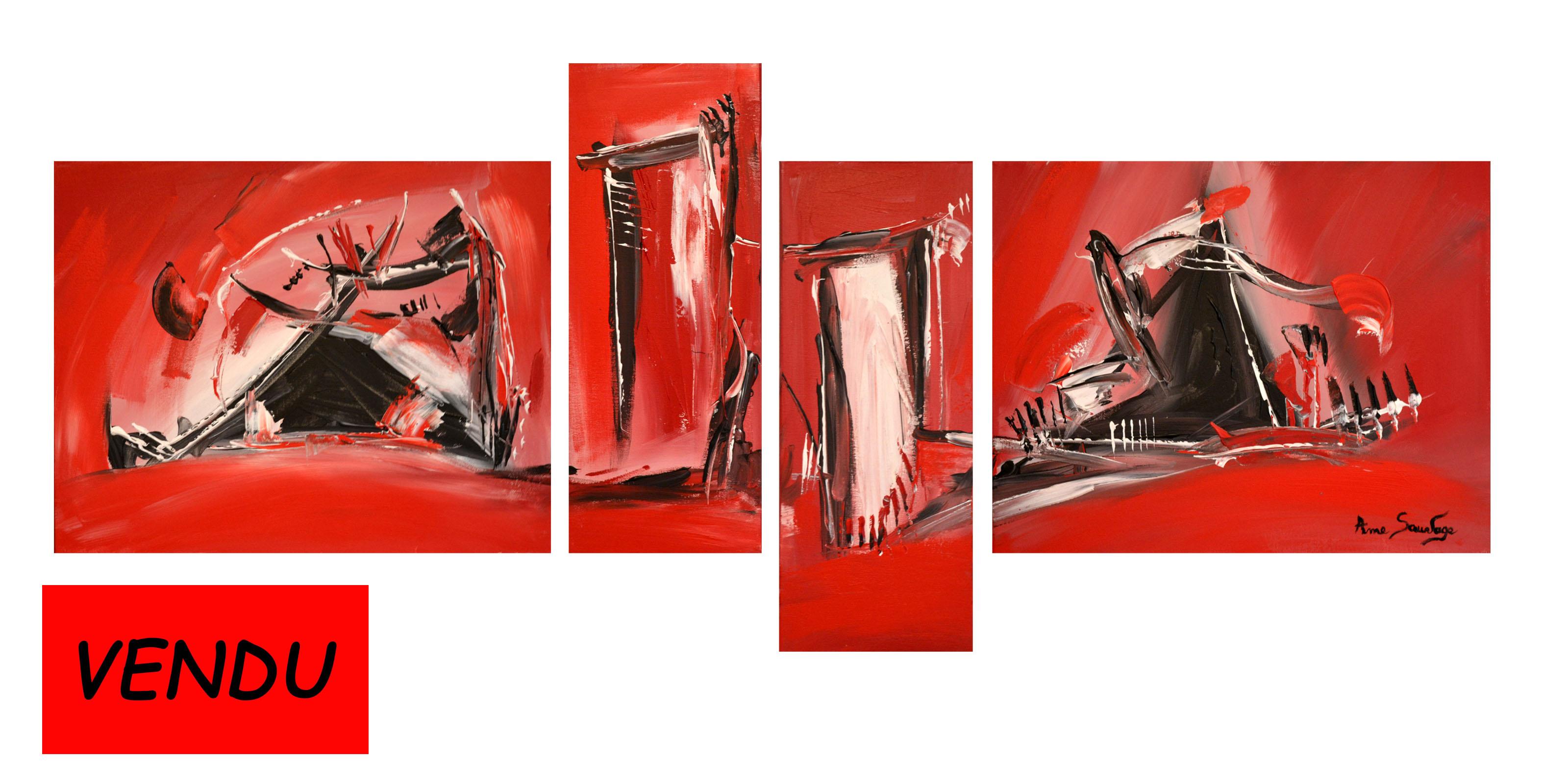 tableau-quadriptyque-rouge