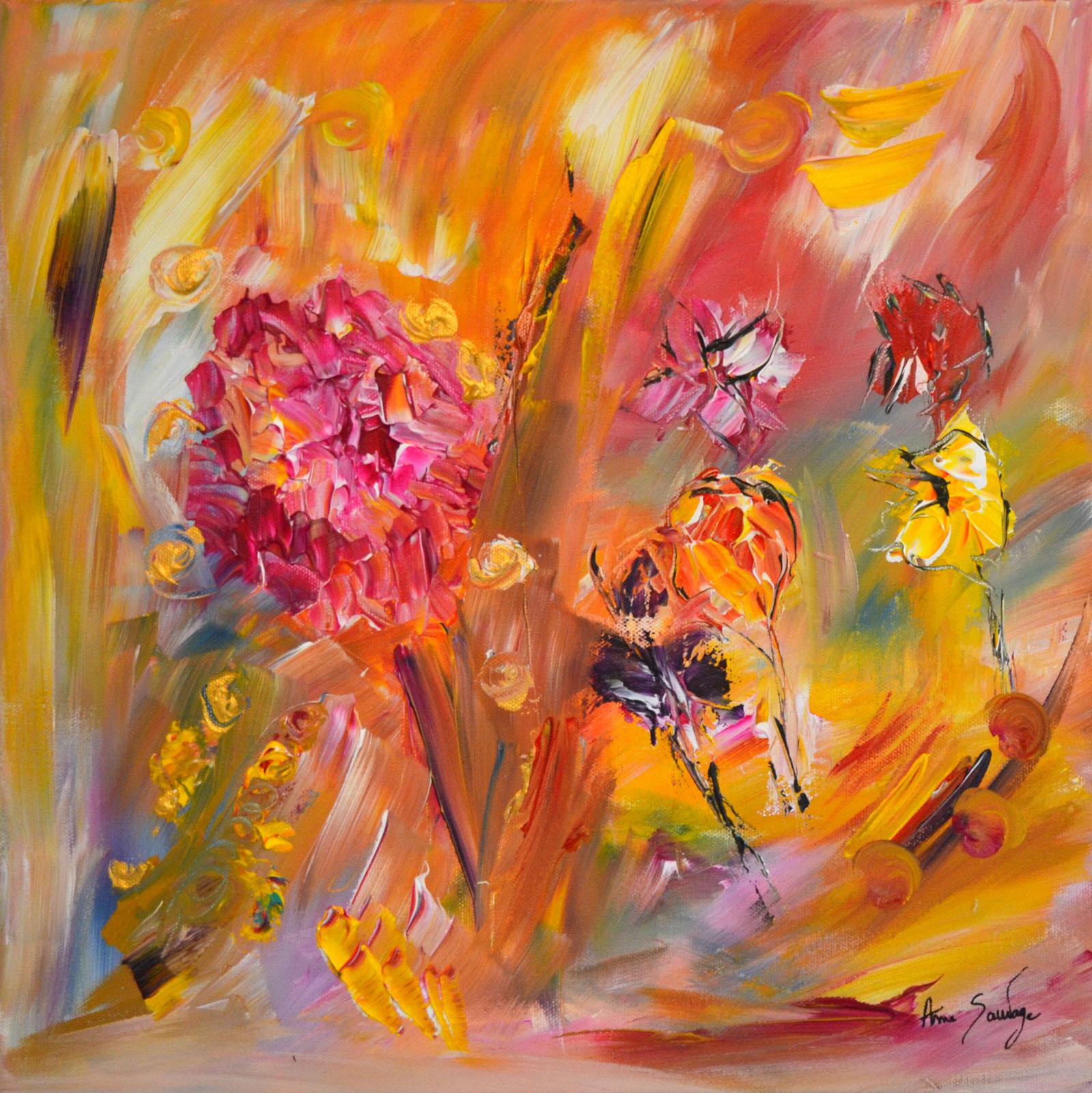 Tableau abstrait fleur hortensia la fleur d 39 abondance for Photo de tableau abstrait