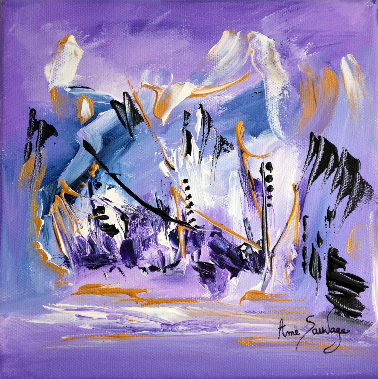 Tableau peinture abstraite violet peintre contemporain abstrait for Photo de tableau abstrait