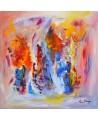 Souvenirs - tableau contemporain lumineux