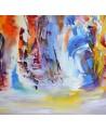 tableau contemporain multicolore