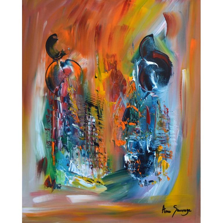 La force de la pensée - toile multicolore