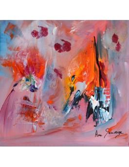 Ensoleillée - Tableau abstrait multicolore