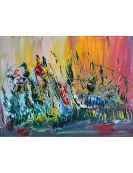 Tableau contemporain coloré