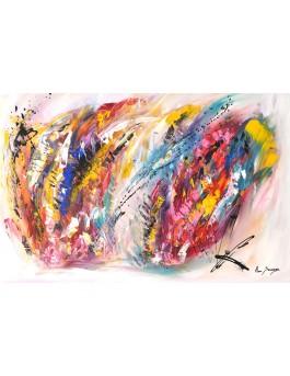 Jets arc en ciel - peinture abstraite multicolore