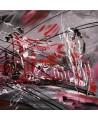 Tableau abstrait tryptique Exceptionnelle tempête
