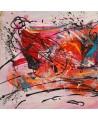 Peinture tryptique abstraite Art graphique