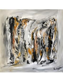 tableau abstrait gris