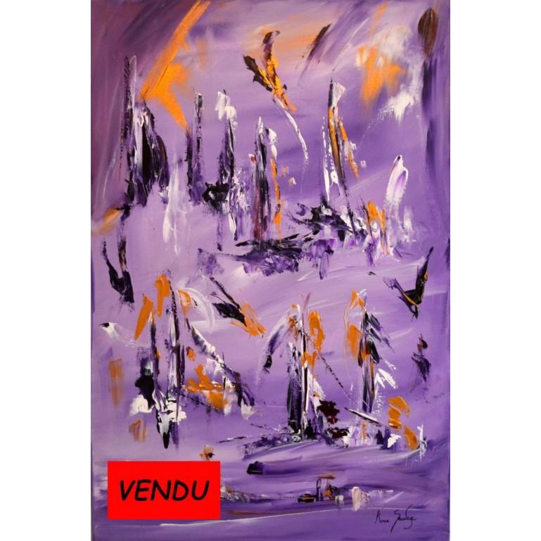 tableau violet La terre est proche