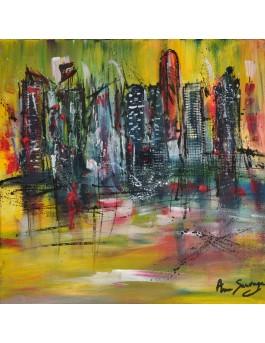 La ville magnifique -  peinture urbaine
