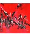 tableau moderne rouge