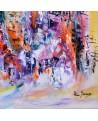 grand tableau abstrait coloré