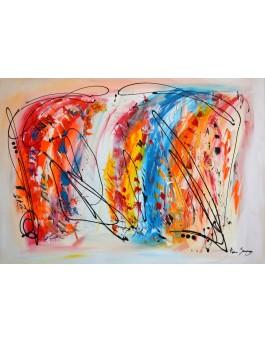 Virtuose - grand tableau multicolore