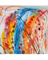 grand tableau moderne multicolore