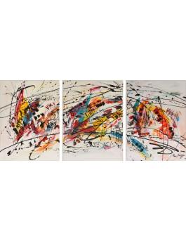 Aras multicolores - triptyque multicolore