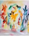 tableau de fleurs abstraites