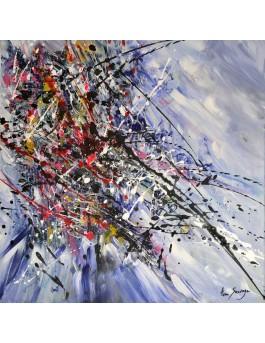 Explosion positive - tableau abstrait moderne