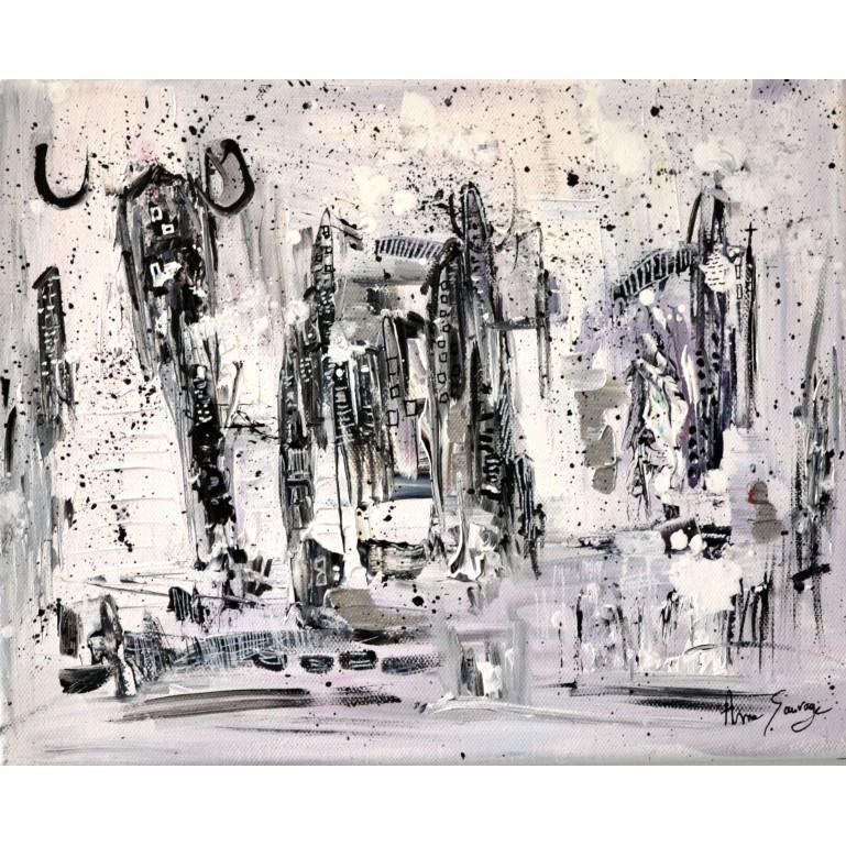 tableau noir blanc gris
