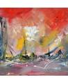 tableau abstrait ville