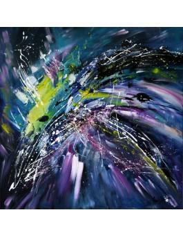 Au fin fond de l'univers - peinture abstraite moderne