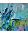 tableau bleu moderne