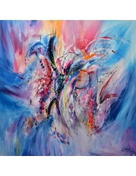 grand tableau contemporain abstrait