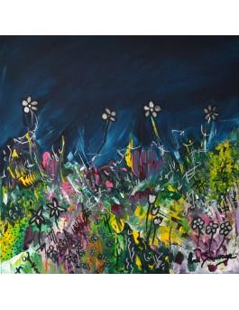 Peinture abstraite de fleurs
