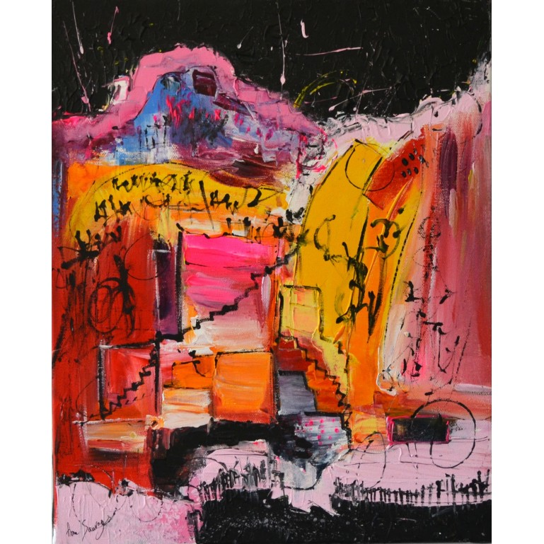 Peinture contemporaine colorée