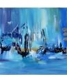 Symphonie du mouvement - Tableau abstrait bleu