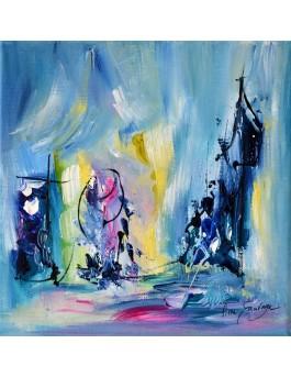 peinture abstraite petit format pas cher