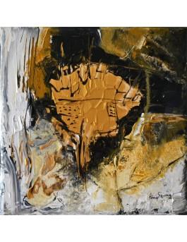 tableau doré et noir