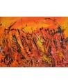 tableau orange et jaune