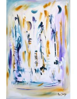 Promenade au clair de lune, peinture abstraite