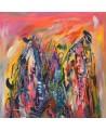 tableau multicolore vertical