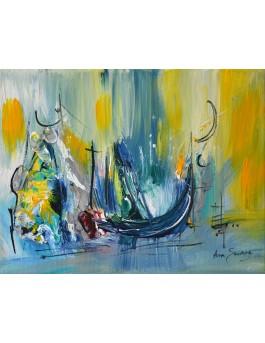 Le temps s'arrête - Tableau de bateau abstrait