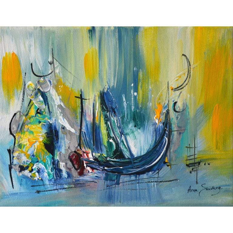 Tableau de bateau abstrait