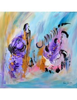 peinture abstraite contemporaine sur bois entoilé