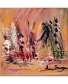 tableau abstrait orangé