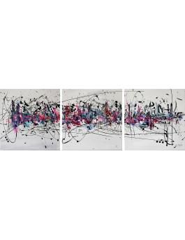 Triptyque abstrait et moderne