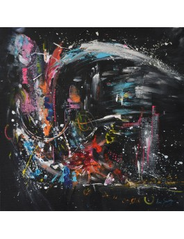 tableau coloré sur fond noir