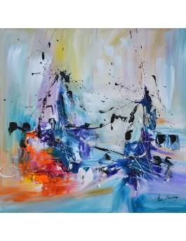 toile abstraite colorée