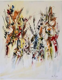 L'espoir renaît - tableau vertical floral