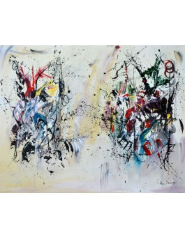 L'ordre du chaos - tableau abstrait contemporain
