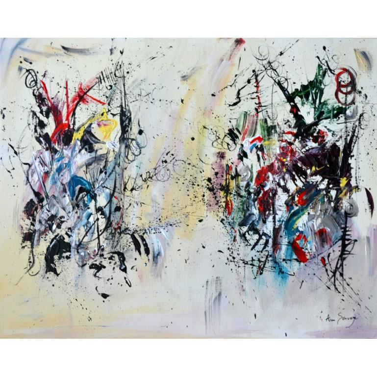 tableau abstrait contemporain