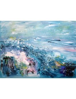 tableau paysage d'hiver