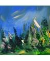 tableau abstrait nature