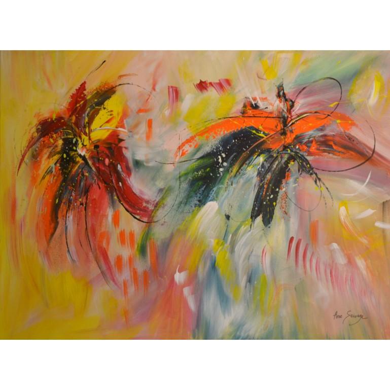 peinture multicolore de fleurs