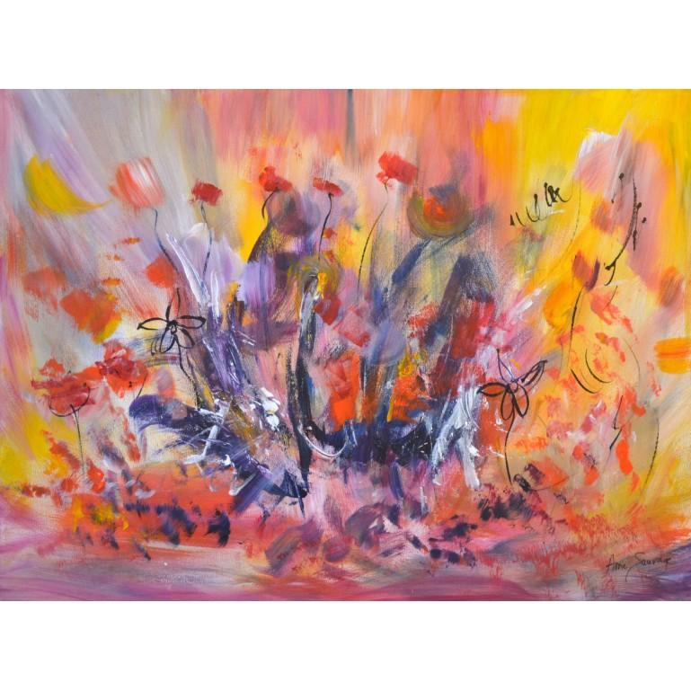 tableau abstrait colorée - peinture colorée